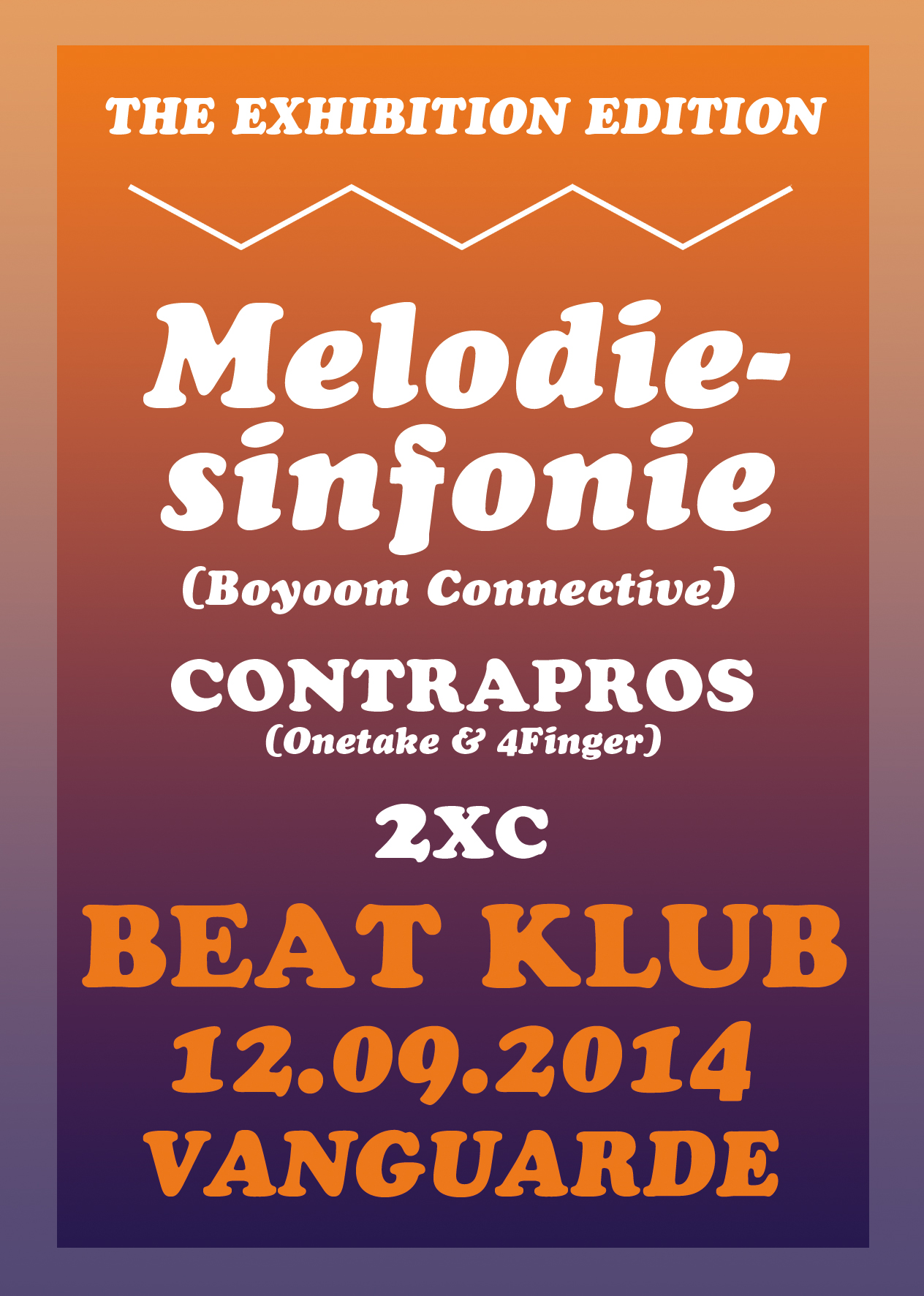 12.09.2014 | BEAT KLUB * SEASON OPENING * EXHIBITION EDITION