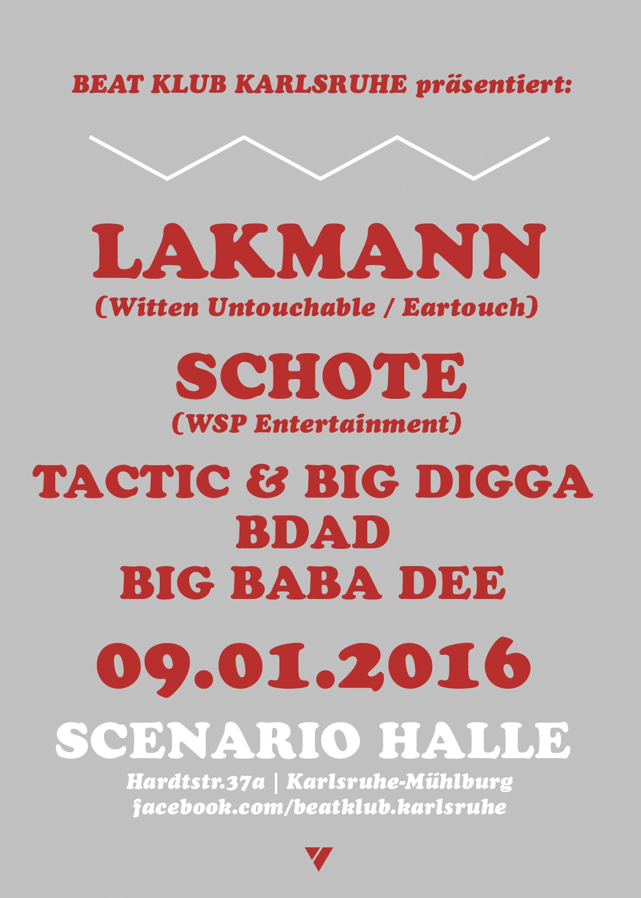 09.01.2016 | Beat Klub pres. LAKMANN Live!!