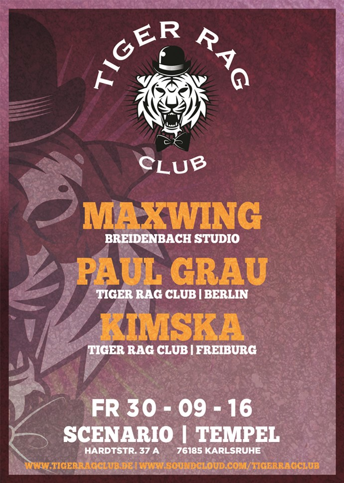 30.09.2016 | Tiger Rag Club - Back in Karlsruhe